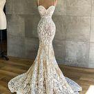 Mermaid Wedding Dresses Appliques Bridal Gowns M1352