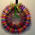Crayon Wreaths