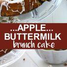 Apple Buttermilk Brunch Cake