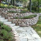 Retaining Walls and Outcroppings - Treetops Landscape Design Inc.