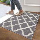 Lokhom Indoor and Outdoor Mats and Runner Geometric Design - 20x32 / Grey