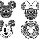 Disney Bundle SVG, Disney Mandala SVG, Mickey Mouse SVG Mandala Minnie Mouse Svg Mandala Disney Castle Svg Lilo and Stitch Svg Love Svg File