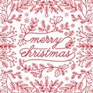 non-photo holiday cards - Be Merry