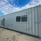 40 ft Container - The Alpine Model - Shiplap / 40 ft Deck w/ Stairs / No Bathroom Upgrade