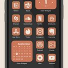 Copper App Icons - iOS 15 Home Screen Ideas Brown - Copper Icon - Copper iPhone Wallpapers