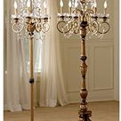 Boudoir 6-Light Chandelier Floor Lamp