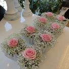 Bordsdekoration   rosa moln