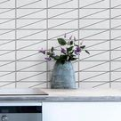 Tile Stickers Vinyl Decal WATERPROOF REMOVABLE for kitchen bath wall floor or stair: M029 gray