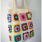 Crochet Bag, Granny Square Bag, Crochet Purse, Crochet tote Bag, Retro Bag, Hippie Bag,Gift for Her, Boho Bag, Vintage Style