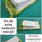 Sew A Non Slip Sewing Machine Foot Pedal Pad Sewing Machine Feet Sewing Techniques Easy Sewing