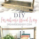 How to Build a Modern Farmhouse Wood Tray