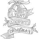 Gratis raamtekening sjablonen voor Kerst