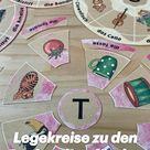 Legekreise zu den Buchstaben für den Schreiblehrgang