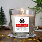 Couple's Christmas Personalised Candle Label Christma | Etsy