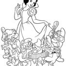 Snow White And Seven Dwarfs The Movie Coloring Page