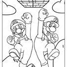 Printable Super Mario Bros Pdf Coloring Page