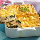 Lachs Spinat Lasagne Rezept    LECKER