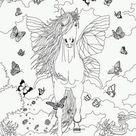 Coloriages bella sara, jument et son poulain - fr.hellokids.com