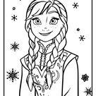 Anna Kleurplaat uitprinten op Kleurplaat Frozen!