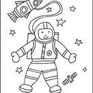 Malvorlage Astronaut - Ausmalbilder zum Ausmalen