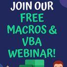 Free Macros & VBA Webinar