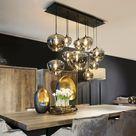 Hanglamp Sphere Metallic Smoke BULBS 10x Mondgeblazen S, M en L - Verlichting - Collectie - Looiershuis