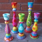 Painted Candlesticks