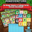 Mineventure Instant Party Game Pack - Instant Download - DIY Printable