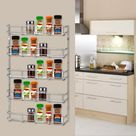 Removable Five Tier Wall Mount Metal Kitchen Storage Rack Sturdy Hanging Organizer Kitchen Spice Pantry Can Shelving - Walmart.com
