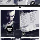 Dj and Musician Press Kit / Resume Template