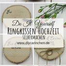 DIY - Rustikales Ringkissen auf einer Baumscheibe einfach selber machen