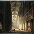Jean-François Depelchin, 1789 - Interior view of Notre Dame in 1789 - fine art print - Metal print (Aluminium Dibond) / 60x50cm - 24x20