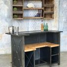 Bar / Hostess Desk  Custom Made furniture  100 yr old Barn   Etsy