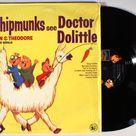 Chipmunks - See Doctor Dolittle (1968) Vinyl LP  Alvin, Simon, Theodore