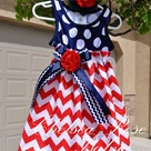 RESERVED FOR LACIE Baby and Girls 4th of July Chevron Dress | Etsy