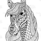 Pferd Malvorlagen : Antistress Malbuch für Erwachsene : Ausmalbilder Pferde