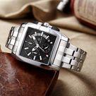 MEGIR Stainless Steel Sports Watch - AllBlack
