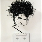 The artist Erika Iris Simmons created lifelike portraits of her musical heroes using old fashion casette tapes.