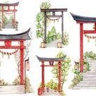 Shinto Shrine Torii gate Washi tape masking tape decorative | Etsy