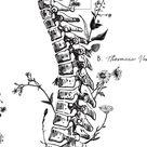 Vertebrae Labeled Floral Spine Print Spine Poster for | Etsy