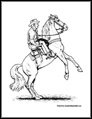 General Cowboy Coloring Pages