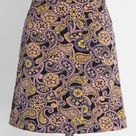 Spin Your Partner Mini Skirt in 26W - A-Line Short Length Vintage Inspired by ModCloth