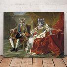 Philip V of Spain and Elizabeth two pets portrait   Canvas Wrap 16x16