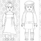 And More American Girl coloring pages