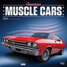 American Muscle Cars 2020 12 x 12 Inch Monthly Square Wall Calendar with Foil Stamped Cover, USA Motor Ford Chevrolet Chrysler Oldsmobile Pontiac (English, Spanish and French Edition) - Default