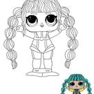 LOL Surprise Hairvibes Scuba Babe coloring page - Free coloring sheets