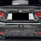 BMW 4 Series F32/F33/F36 M Performance Style ABS Plastic Rear Diffuser   Gran Coupe F36 / Gloss Black