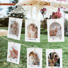 Baby Milestone Photo Cards, First Birthday Monthly Photo Banner Template, 1st Birthday Photo Banner, Baby Milestone Photo Cards