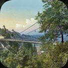 Framed Photo. Switzerland - Fribourg, The Suspended Bridge