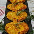 Mediterrane Kürbispuffer in Herzform - Rezept für einen Snack, der im Herbst toll ist! - herzelieb